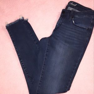 Skinny-ripped high waisted jeans stretch
